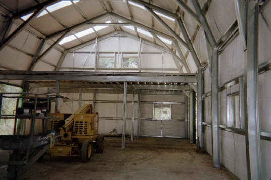 Gold coast steel buildings photo gallery for Gambrel roof metal building
