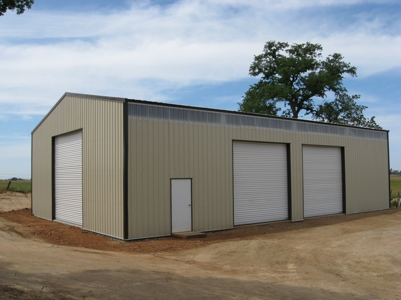 Gold coast steel buildings photo gallery for 12x12 roll up garage door